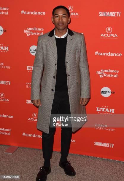 Kelvin Harrison Jr attends the 'Monster' Premiere during the 2018 Sundance Film Festival at Eccles Center Theatre on January 22 2018 in Park City Utah