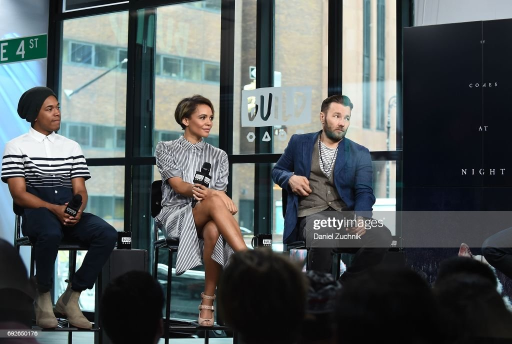 Kelvin Harrison Jr, Carmen Ejogo and Joel Edgerton attend the Build Series to discuss the new film 'It Comes at Night' at Build Studio on June 5, 2017 in New York City.