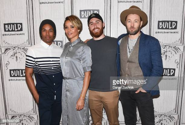 Kelvin Harrison Jr Carmen Ejogo Trey Edward Shults and Joel Edgerton attend the Build Series to discuss the new film 'It Comes at Night' at Build...