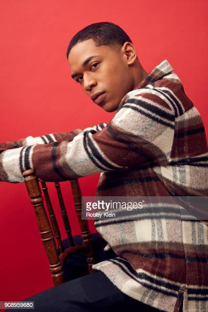 Kelvin Harrison Jr from the film 'Monster' poses for a portrait in the YouTube x Getty Images Portrait Studio at 2018 Sundance Film Festival on...
