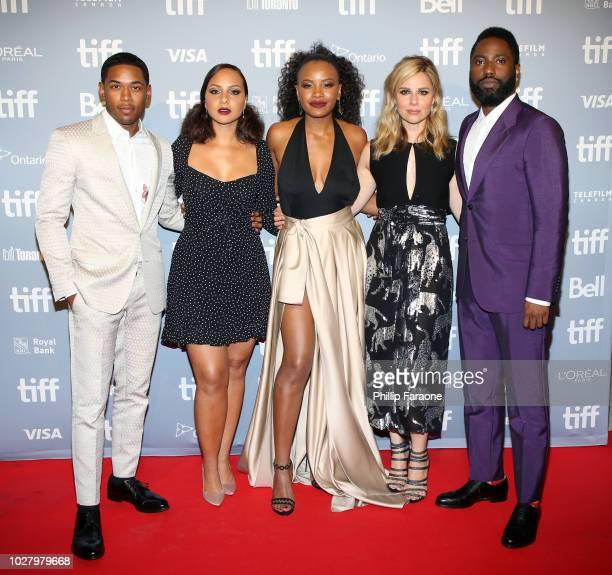 Kelvin Harrison Jr Jasmine Cephas Jones Chanté Adams Cara Buono and John David Washington attend the Monsters And Men premiere during 2018 Toronto...