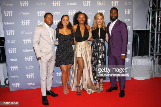 Kelvin Harrison Jr Jasmine Cephas Jones Chanté Adams Cara Buono and John David Washington attends the Monsters And Men Premiere during the 2018...