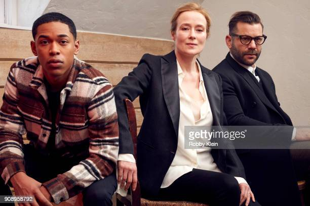 Kelvin Harrison Jr Jennifer Ehle and Anthony Mandler pose for a portrait in the YouTube x Getty Images Portrait Studio at 2018 Sundance Film Festival...