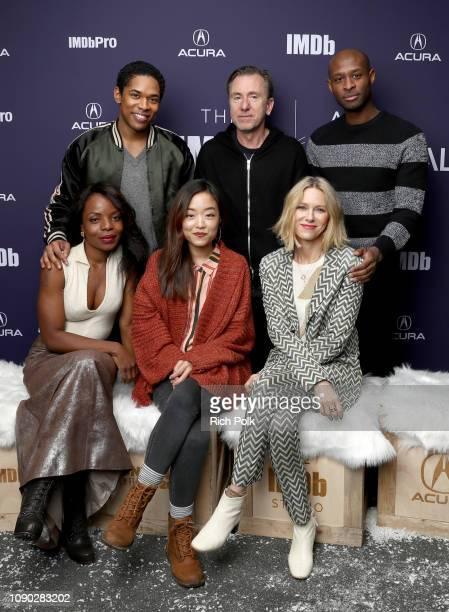 Kelvin Harrison Jr Tim Roth Julius Onah Marsha Stephanie Blake Andrea Bang and Naomi Watts of 'Luce' attend The IMDb Studio at Acura Festival Village...