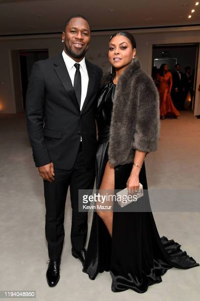 Kelvin Hayden and Taraji P Henson attend Sean Combs 50th Birthday Bash presented by Ciroc Vodka on December 14 2019 in Los Angeles California