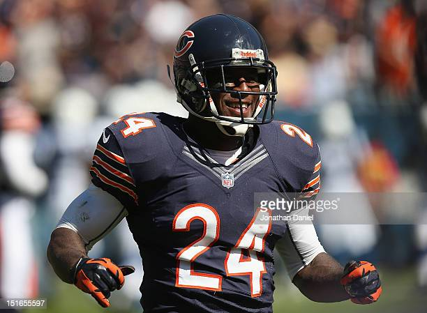 Kelvin Hayden of the Chicago Bears smiles as he leaves the field after recovering a fumble against the Indianapolis Colts during their 2012 NFL...