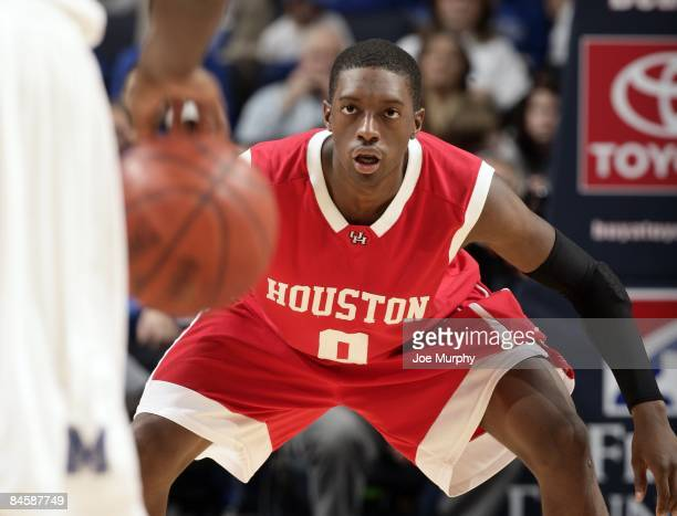 Kelvin Lewis of the Houston Cougars waits down court in a game against the Memphis Tigers at FedExForum on January 31 2009 in Memphis Tennessee...