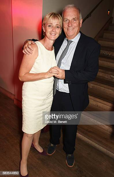 Kelvin MacKenzie and wife Sarah McLean attend the press night after party for 'Breakfast at Tiffany's' at the The Haymarket Hotel on July 26 2016 in...