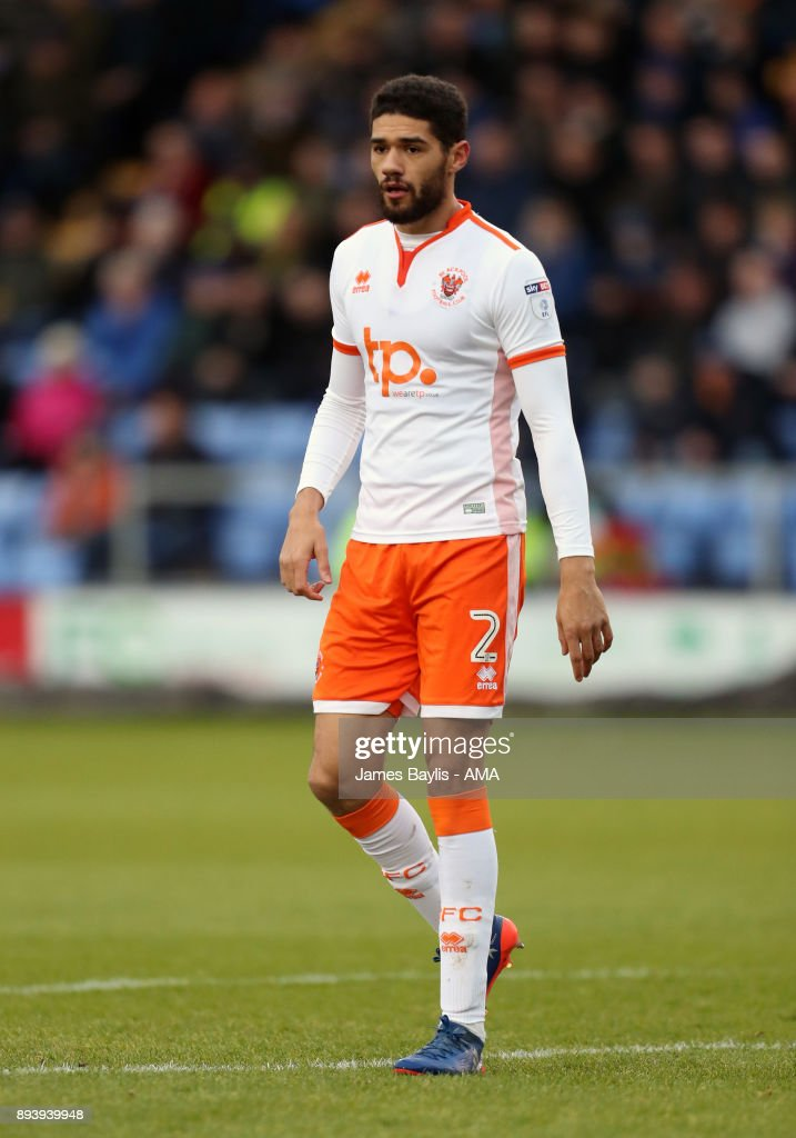 Kelvin Mellor of Blackpool during the Sky Bet League One match between Shrewsbury Town and Blackpool at New Meadow on December 16, 2017 in Shrewsbury, England.
