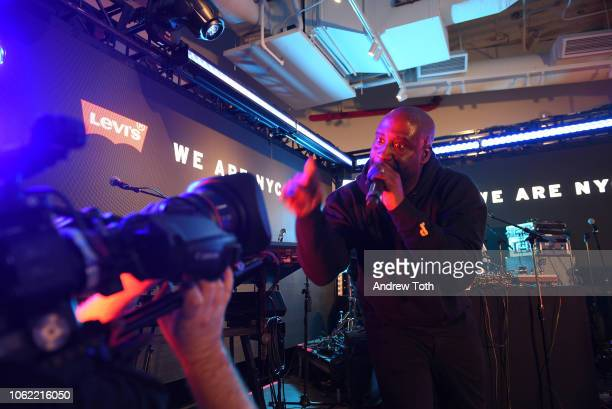 Kelvin Mercer of De La Soul performs at the Levi's Times Square Store Opening on November 15 2018 in New York City