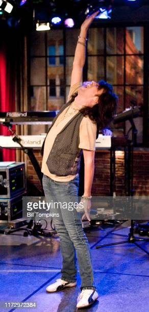 Kely Hanson of Foreigner appears on the TV show PRIVATE SESSIONS on August 24 2008 in New York City