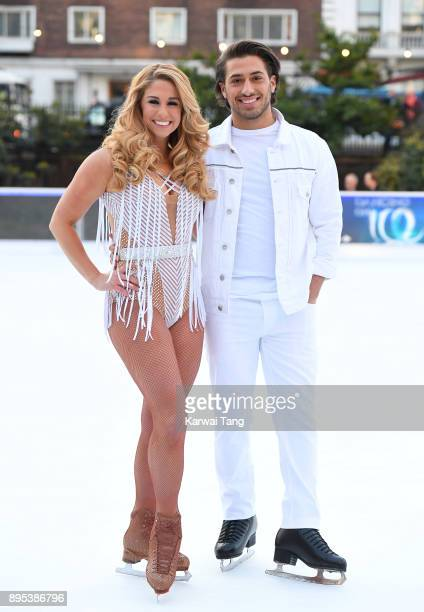 Kem Cetinay and Alex Murphy attend the Dancing On Ice 2018 photocall held at Natural History Museum Ice Rink on December 19 2017 in London England