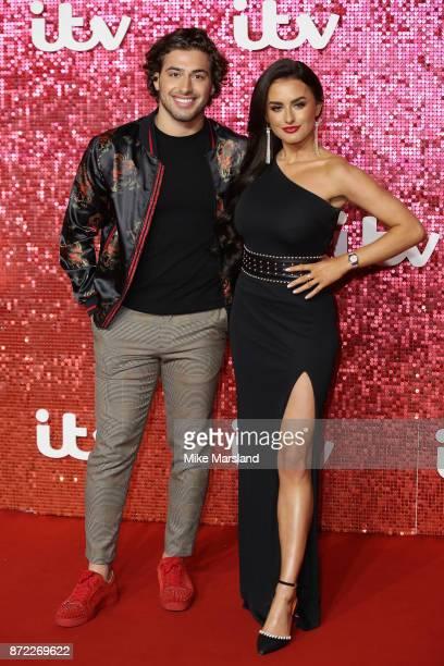 Kem Cetinay and Amber Davies arrive at the ITV Gala held at the London Palladium on November 9 2017 in London England