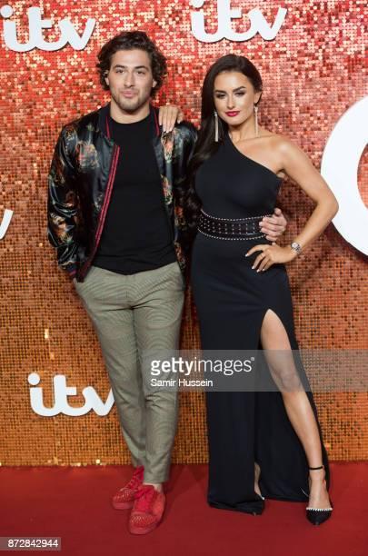 Kem Cetinay and Amber Davies arriving at the ITV Gala held at the London Palladium on November 9 2017 in London England