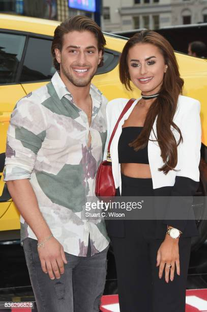 Kem Cetinay and Amber Davies arriving at the 'Logan Lucky' UK premiere held at Vue West End on August 21 2017 in London England