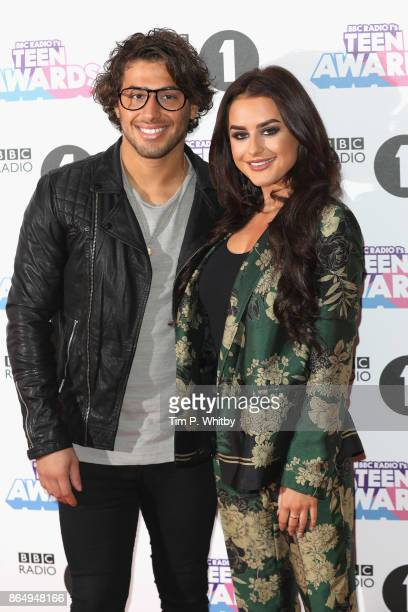 Kem Cetinay and Amber Davies attend the BBC Radio 1 Teen Awards 2017 at Wembley Arena on October 22 2017 in London England