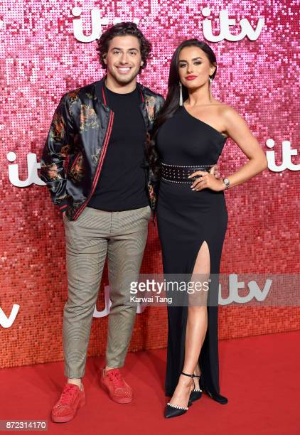 Kem Cetinay and Amber Davies attend the ITV Gala at the London Palladium on November 9 2017 in London England