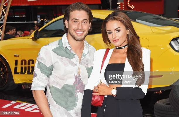 Kem Cetinay and Amber Davies attend the 'Logan Lucky' UK Premiere at Vue West End on August 21 2017 in London England