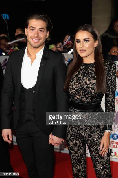 Kem Cetinay and Amber Davies attend the Pride Of Britain Awards at Grosvenor House on October 30 2017 in London England