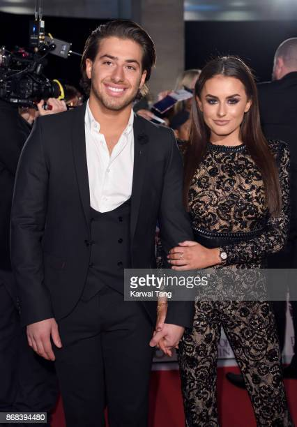 Kem Cetinay and Amber Davies attend the Pride Of Britain Awards at the Grosvenor House on October 30 2017 in London England