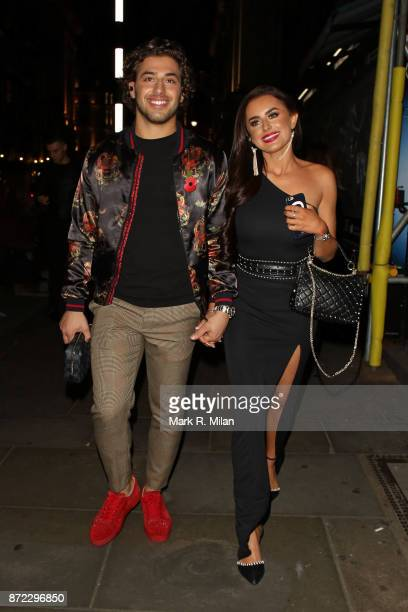 Kem Cetinay and Amber Davies attending the ITV Gala afterparty at Aqua on November 9 2017 in London England