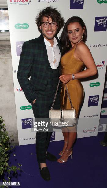 Kem Cetinay and Amber Davies seen attending Specsavers' Spectacle Wearer of the Year at 8 Northumberland Avenue on October 10 2017 in London England