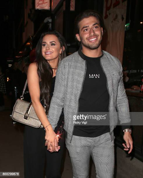 Kem Cetinay and Amber Davis seen attending Amber Davies x Motel Rocks collection launch party at Tonight Josephine on September 28 2017 in London...