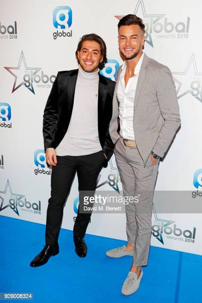 Kem Cetinay and Chris Hughes attend The Global Awards 2018 at Eventim Apollo Hammersmith on March 1 2018 in London England
