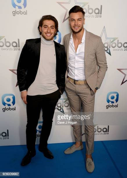 Kem Cetinay and Chris Hughes attend The Global Awards a brand new awards show hosted by Global the Media Entertainment Group at Eventim Apollo...