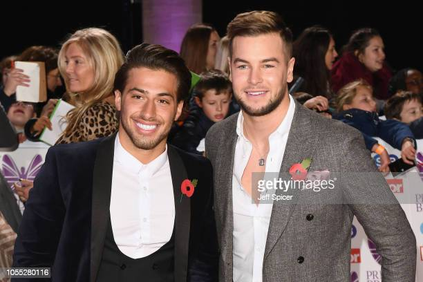 Kem Cetinay and Chris Hughes attend the Pride of Britain Awards 2018 at The Grosvenor House Hotel on October 29 2018 in London England