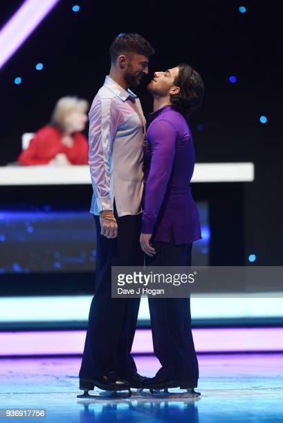 Kem Cetinay and Jake Quickenden during the Dancing on Ice Live Tour Dress Rehearsal at Wembley Arena on March 22 2018 in London EnglandThe tour kicks...