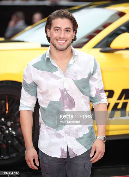 Kem Cetinay arriving at the 'Logan Lucky' UK premiere held at Vue West End on August 21 2017 in London England