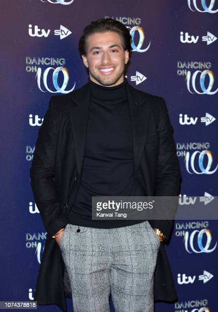 Kem Cetinay attends a photocall for the new series of Dancing On Ice at Natural History Museum Ice Rink on December 18 2018 in London England