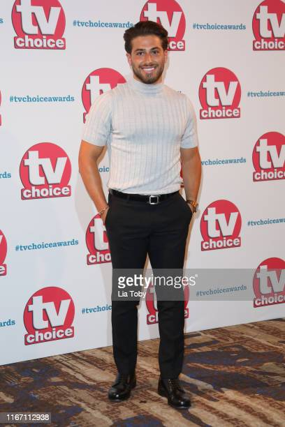 Kem Cetinay attends The TV Choice Awards 2019 at Hilton Park Lane on September 9 2019 in London England