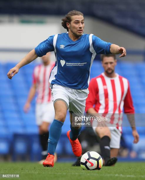Kem Cetinay of Bradley's Blues in action during the Bradley Lowery Charity Game at Goodison Park on September 3 2017 in Liverpool England