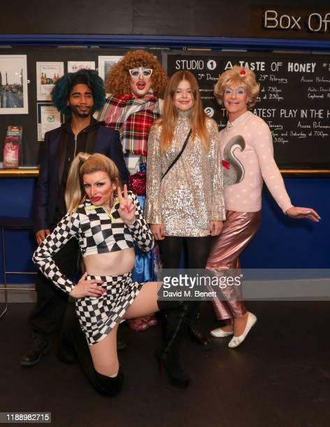 Kemah Bob Veronica Green Holly Stars Alexa Louise Florence Hughes and Sheila Simmonds attend the press night performance of Cinderella at Trafalgar...