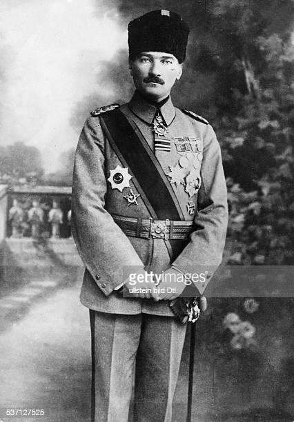 'Kemal Atatürk Turkish politician in uniform as the Supreme Commander of the Turkish Armed Forces 1922