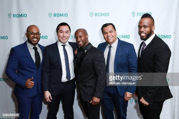 Kemar Cohen Eric Ho JR David Tufino and Terry White during the Founder CEO Tarik Sansal Invites You to Celebrate the Launch of ROMIO event at NoMad...