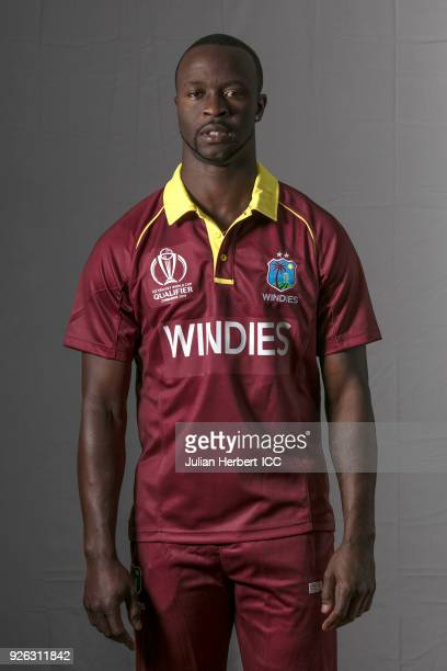Kemar Roach of The West Indies poses for a picture during the West Indies Portrait Session for the ICC Cricket World Cup Qualifier at Meikles Hotel...
