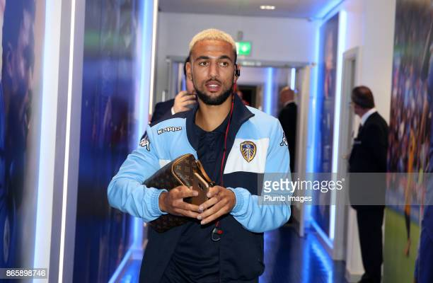 Kemar Roofe of Leeds United at King Power Stadium ahead of the Carabao Cup match between Leicester City and Leeds United at King Power Stadium on...