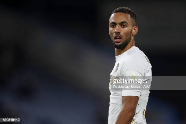 Kemar Roofe of Leeds United during the Carabao Cup Third Round match between Burnley and Leeds United at Turf Moor on September 19 2017 in Burnley...