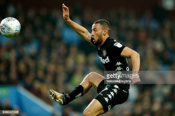 Kemar Roofe of Leeds United during the Sky Bet Championship match between Aston Villa and Leeds United at Villa Park on April 13 2018 in Birmingham...