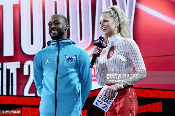 Kemba Walker and Allie LaForce attend the 2019 State Farm AllStar Saturday Night at Spectrum Center on February 16 2019 in Charlotte North Carolina