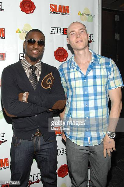 Kemba Walker and DJ Skee attend Kemba Walker's official NBA draft party at Greenhouse on June 23 2011 in New York City