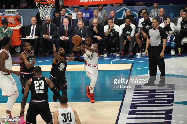 Kemba Walker of Team Giannis passes the ball during the 2019 NBA AllStar Game on February 17 2019 at the Spectrum Center in Charlotte North Carolina...