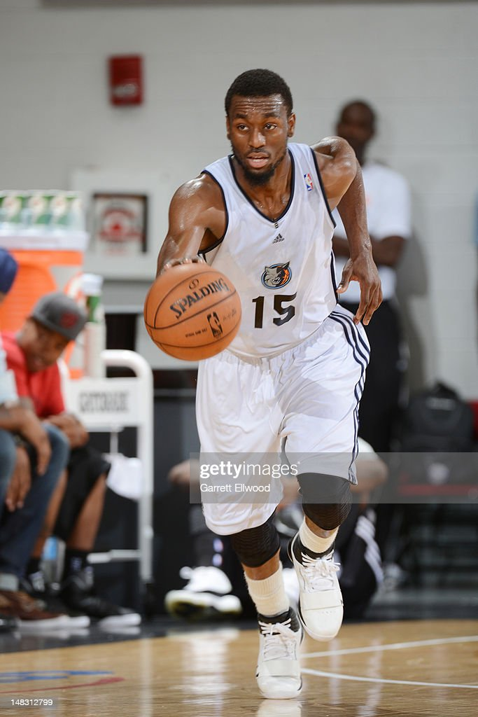 Kemba Walker #15 of the Charlotte Bobcats drives against the Sacramento Kings during NBA Summer League on July 13, 2012 at Cox Pavilion in Las Vegas, Nevada.