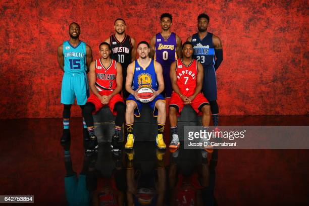 Kemba Walker of the Charlotte Hornets Kyle Lowry of the Toronto Raptors Nick Young of the Los Angeles Lakers Wesley Matthews of the Dallas Mavericks...
