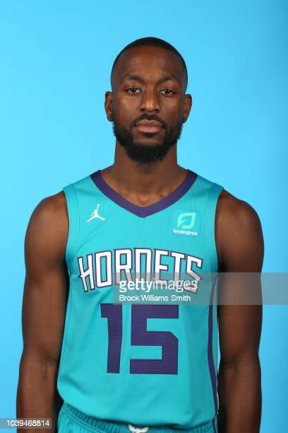 Kemba Walker of the Charlotte Hornets poses for a head shot during media day on September 24 at the Spectrum Center in Charlotte North Carolina NOTE...
