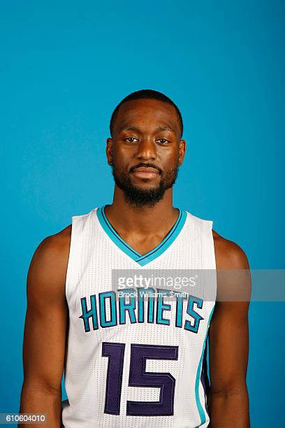 Kemba Walker of the Charlotte Hornets poses for a head shot during the 20162017 Charlotte Hornets Media Day at the Time Warner Cable Arena on...