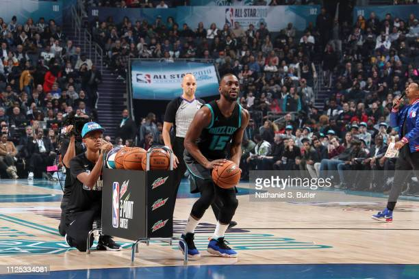 Kemba Walker of the Charlotte Hornets shoots the ball during the 2019 Mtn Dew 3Point Contest as part of the State Farm AllStar Saturday Night on...